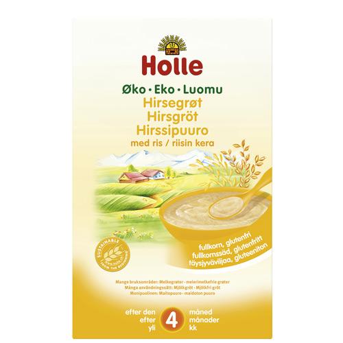 Image of Holle Hirsegrød økologisk fra 4 måneder 250 gram