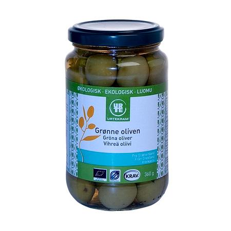 Image of   Oliven grønne fra Urtekram Økologiske - 360 gram