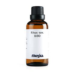 Rhus tox D30 fra Allergica - 50 ml.