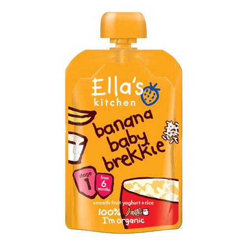 Image of Babymos banan yoghurt & ris 6 mdr Øko - 100 gram