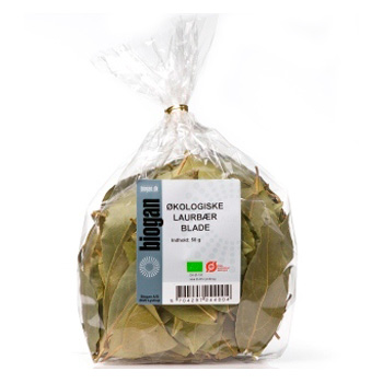 Image of   Laurbærblade Økologiske fra Biogan - 50 gram