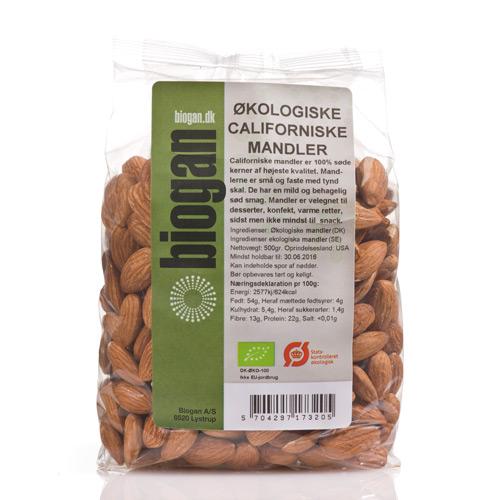 Mandler Californiske Økologiske - 400 gram