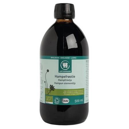 Hampefrøolie Økologisk fra Urtekram - 500 ml