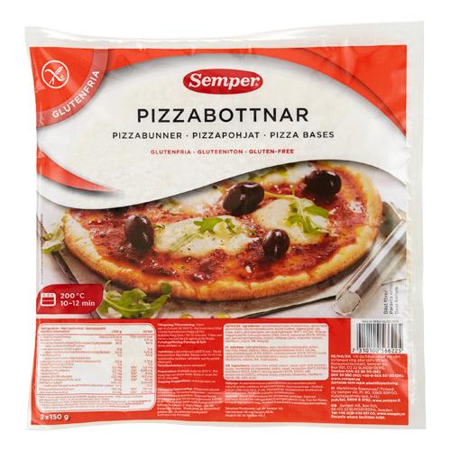 Image of Pizzabunde glutenfri Øko Semper 2 stk. - 300 gr