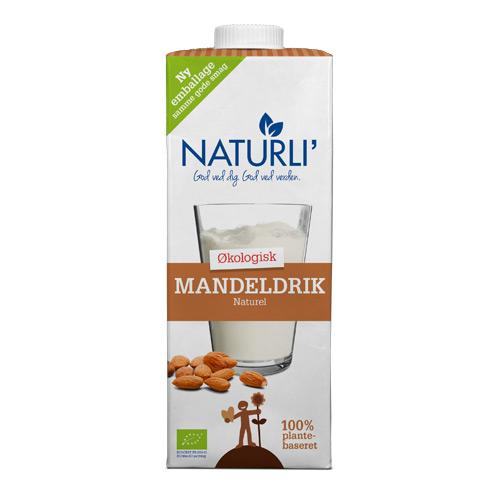 Image of Mandeldrik Naturli Økologisk - 1 liter