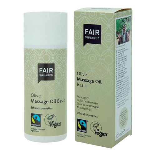 Image of   Fair Squared Oliven massageolie (150 ml)