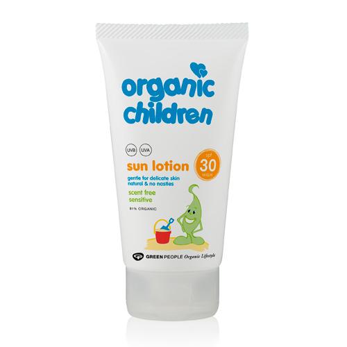 GreenPeople Børnesolcreme duftfri SPF 25 - 150 ml