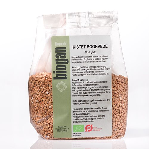 Biogan Boghvede Ristet Ø (500 g)