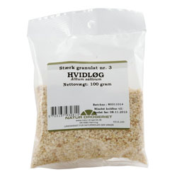 Image of   Hvidløgs granulat Natur Drogeriet - 100 gram