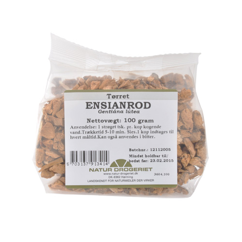 Image of   Ensianrod skåret Natur Drogeriet - 100 gram