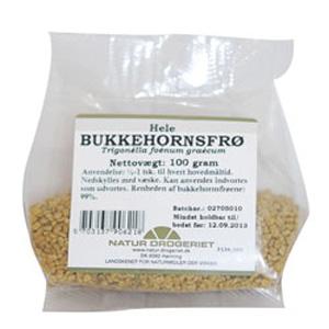 Image of   Bukkehornsfrø hele fra Natur Drogeriet - 100 gram