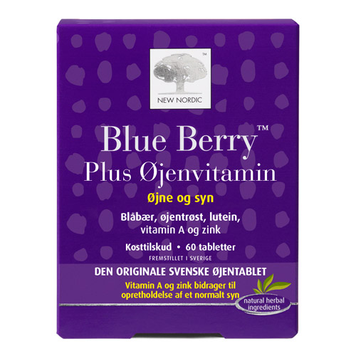 Blue Berry plus øjenvitamin 10 mg - 60 tabletter