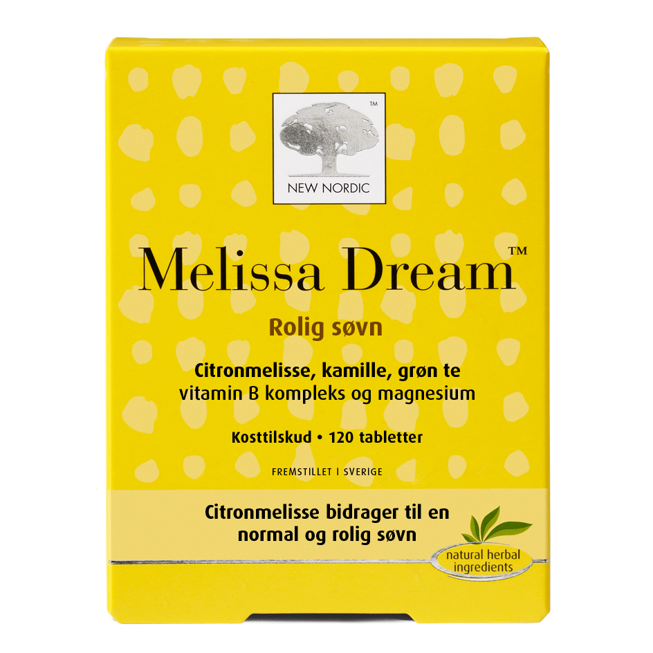 Melissa Dream fra New Nordic - 120 tabletter