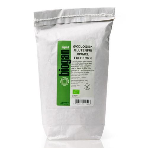 Rismel fuldkorn glutenfri fra Biogan Øko - 1 kg.