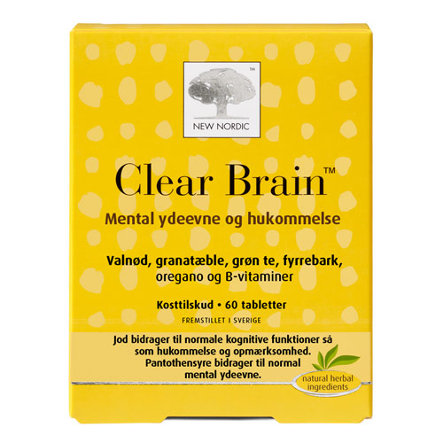 Image of Clear Brain fra New Nordic - 60 Tabletter