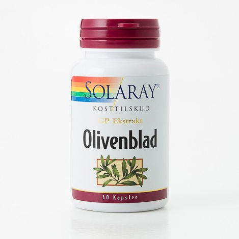 Olivenblad GPH 17% Solaray - 30 kapsler