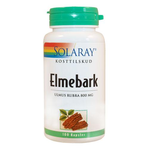 Elmebark slippery elm 400 mg Solaray - 100 kapsler