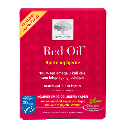 Image of   Red Oil omega 3 krill olie - 120 kapsler