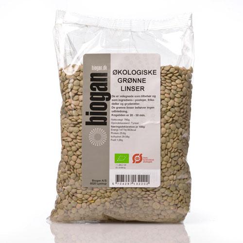 Image of Grønne Linser Økologiske - 750 gram