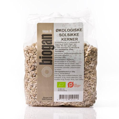 Solsikkekerner fra Biogan Øko - 1 kg.