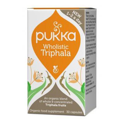 Triphala kapsler Økologiske fra Pukka - 30 kapsler