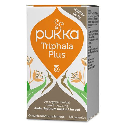 Image of   Triphala Plus kapsler Øko fra Pukka - 60 kapsler