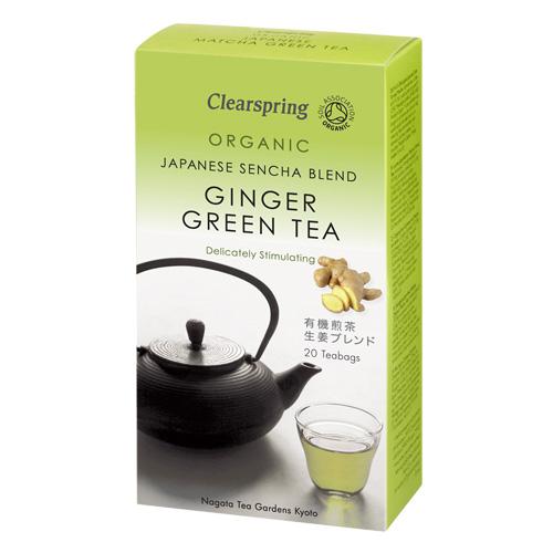 Grøn te med ingefær Økologisk - 20 breve