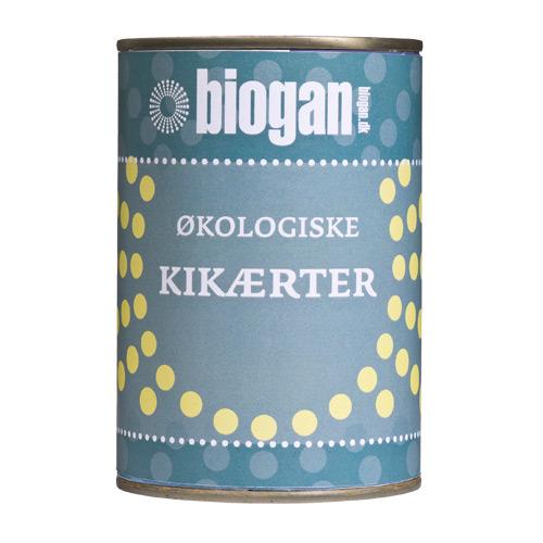 Image of   Kikærter på dåse fra Biogan Øko - 400 gram
