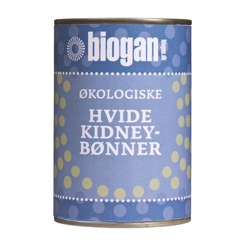 Image of   Hvide bønner på dåse fra Biogan øko - 400 gram