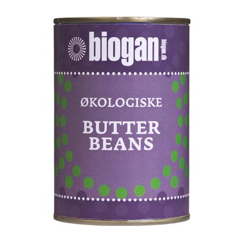 Image of   Butterbeans på dåse fra Biogan Øko - 400 gram