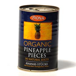Image of   Ananas i stykker Økologisk - 425 gram