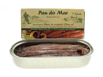 Image of   Ansjoser i olivenolie Økologiske - 50 gram