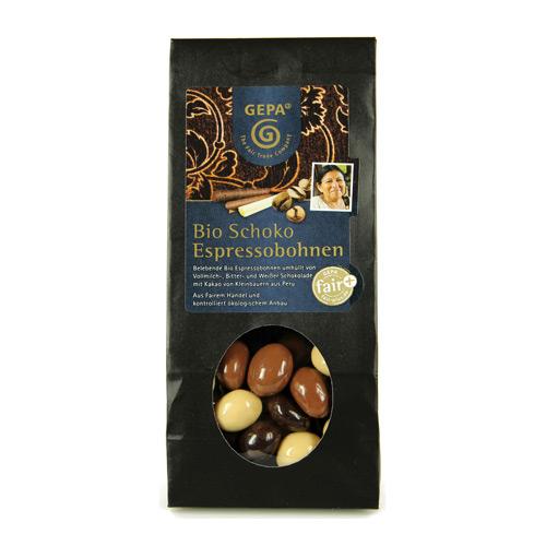 Kaffebønner i chokolade Øko - 100 gram