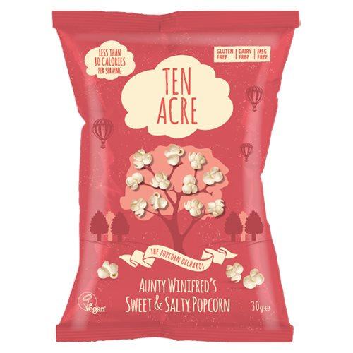 Image of Popcorn søde og salte fra Ten Acre - 28 gram