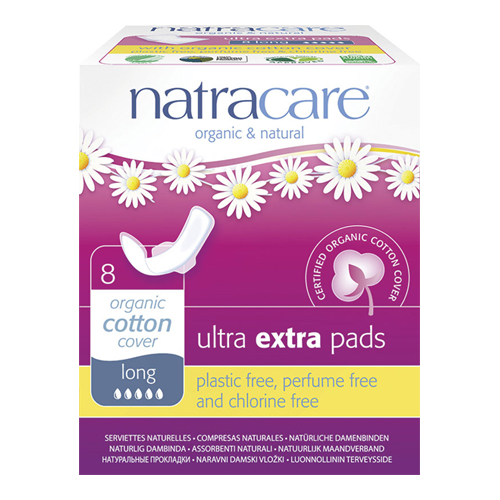 Natracare ultra extra bind long - 8 stk.