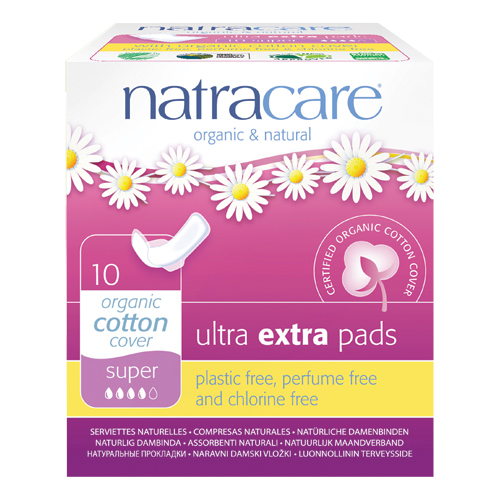 Natracare ultra extra bind super - 10 stk.