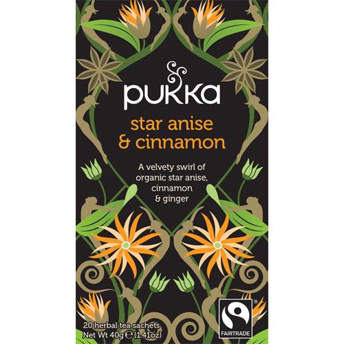 Pukka Star Anise & Cinnamon te Ø - 20 breve