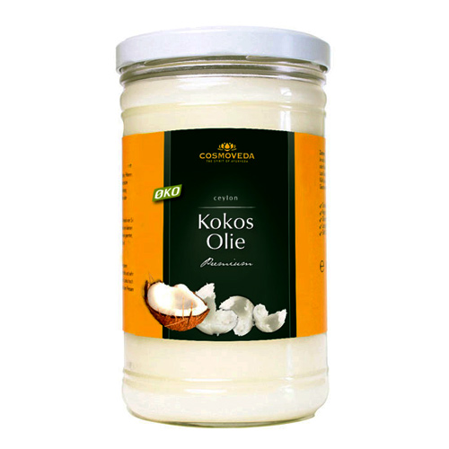 Kokosolie uden smag koldpresset økologisk - 900 gr