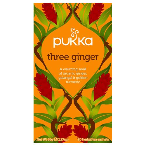 Pukka Three Ginger tea økologisk - 20 breve