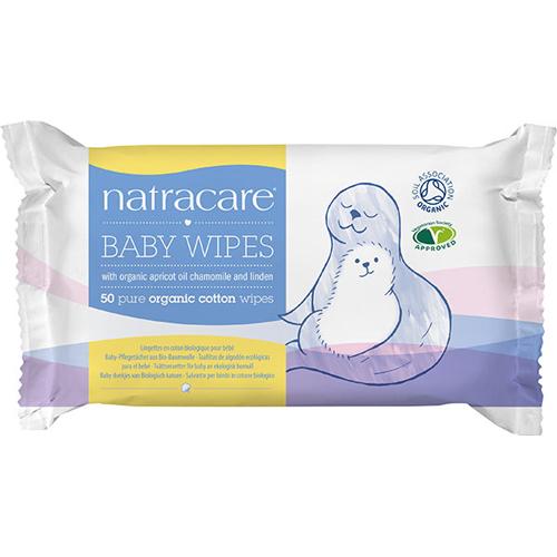 Natracare vådservietter baby Økologisk - 50 stk.