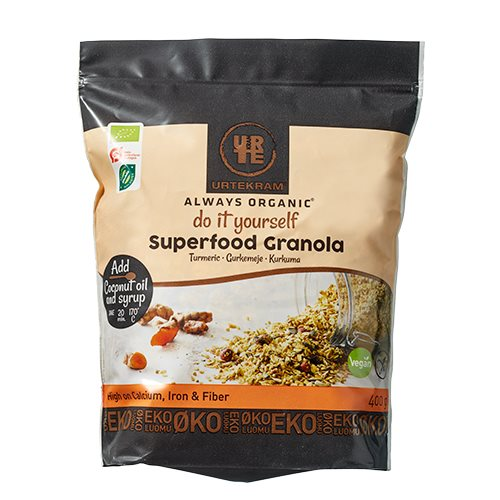 Image of   Urtekram Granola Superfood Gurkemeje Ø