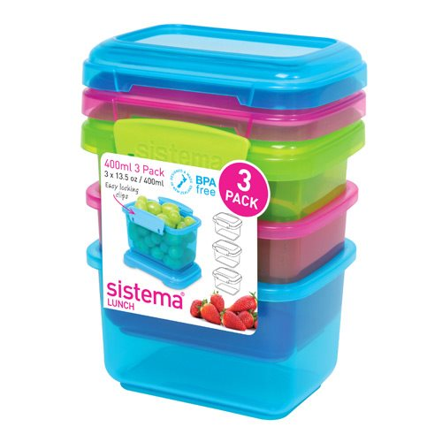 Image of Sistema Opbevaringsboks 3-pack 400 ml.