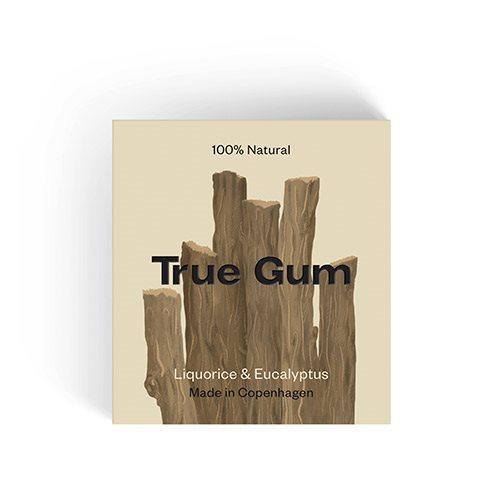 Image of   True Gym Tyggegummi Lakrids & Eucalyptus (20 g)