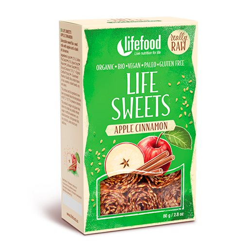 Image of   Lifefood Life Sweets m. Æble & Kanel RAW Ø (90 g)