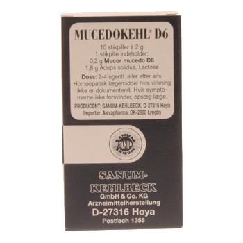 Image of   Mucedokehl stikpiller D6 Sanum Kehlbeck - 10 stk.