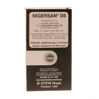 Image of   Nigersan D6 Sanum Kehlbeck - 10 stikpiller
