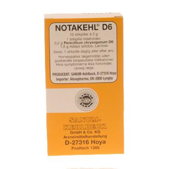 Image of   Notakehl D6 stikpiller - 10 stk.