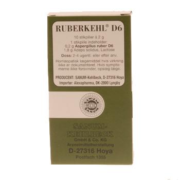 Image of   Ruberkehl D6 stikpiller Sanum Kehlbeck - 10 stk.