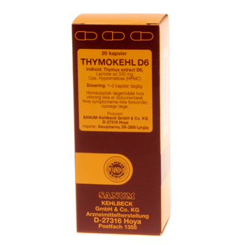Image of   Thymokehl D6 Sanum Kehlbeck - 20 kapsler