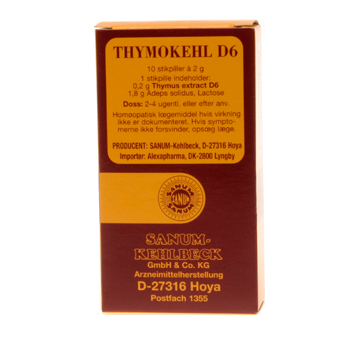 Image of   Thymokehl D6 stikpiller Sanum Kehlbeck - 10 stk.